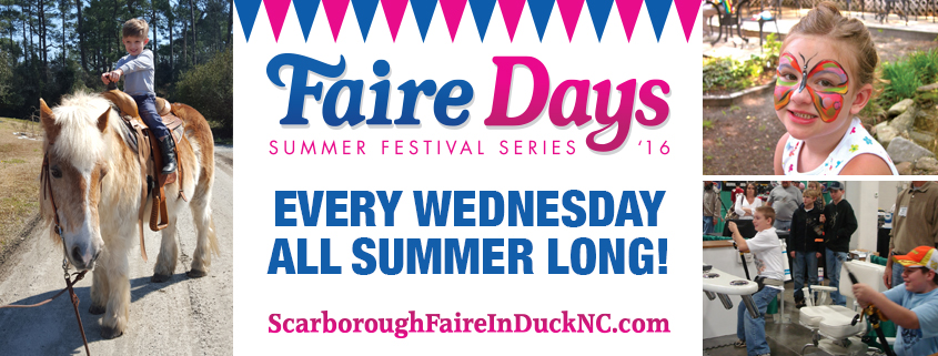 Faire Days Banner - Outer Banks Events