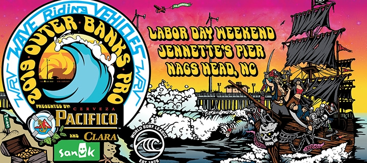 2019 WRV Outer Banks Pro surf competition - Jennette's Pier - Nags Head surfing