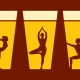 Outer Banks restaurant events - beer yoga - Outer Banks Brewing Station