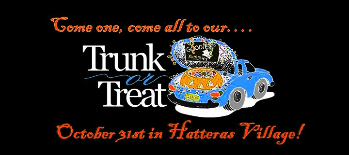 Outer Banks events - Halloween - Trunk or Treat - Hatteras Village
