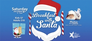 Outer Banks Christmas events - breakfast with Santa - photos - Dare CASA