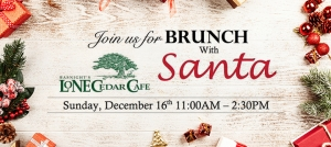 Outer Banks holiday events - Brunch with Santa - Lone Cedar Cafe