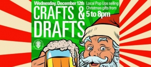 Outer Banks events - Crafts and Drafts - holiday arts and crafts market - Santa