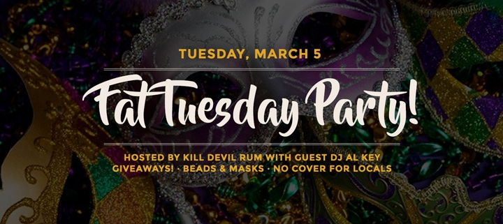 Outer Banks events - Fat Tuesday - OB Brewing Station - Kill Devil Rum