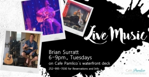 Outer Banks Events - live music - Brian Surratt - Cafe Pamlico