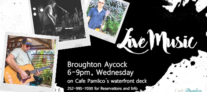 Outer Banks Events - live music - Broughton Aycock - Cafe Pamlico