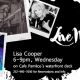 Outer Banks Events - live music - Lisa Cooper - Cafe Pamlico