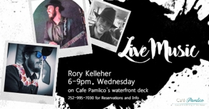 Outer Banks Events - live music - Rory Kelleher - Cafe Pamlico