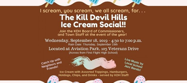 Outer Banks events - Kill Devil Hills Ice Cream Social - Aviation Park