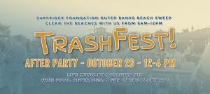 Outer Banks Beach Sweep cleanup - Trashfest - Brewing Station