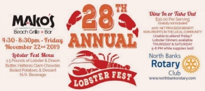 Outer Banks fundraiser - North Banks Rotary Club - Lobster dinner - Mako Mikes