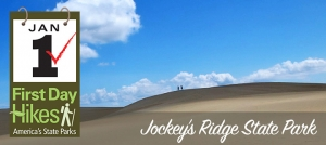 Outer Banks hiking - Jockey's Ridge Dune - New Year