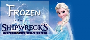 Frozen Elsa and Anna Meet and Greet at Shipwrecks