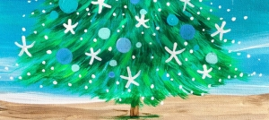 Outer Banks art class - OBXmas Tree Painting Party - NY Pizza Pub