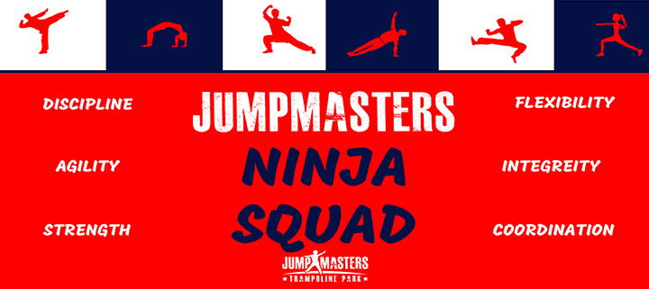 Outer Banks - Jumpmasters trampoline park - Ninja Squad - martial arts, gymnastics, and strength training class