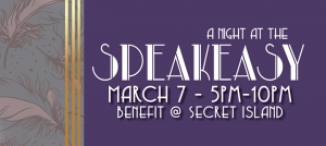 Outer Banks benefit events - Night at the Speakeasy at Secret Island - Mustang Music Outreach - Elizabethan Gardens